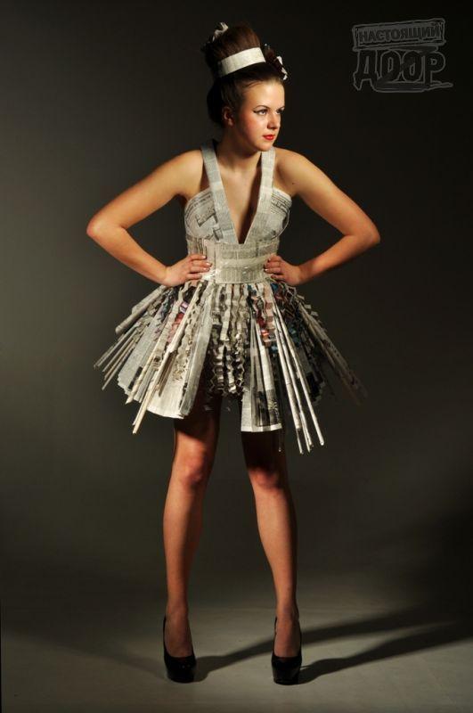 Вечернее платье из подручных материалов своими руками