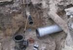 Рымарскую раскопали. Теперь закапывают в нее трубы