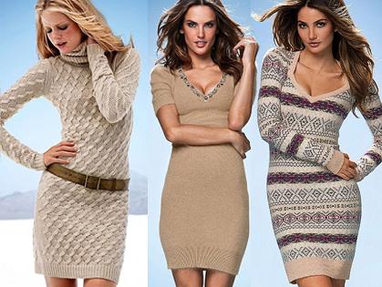 Вязаные платья 2012
