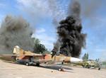 Под Харьковом тушили истребитель и вертолет