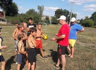 В Валковском районе Харьковская «Солидарность» обустроила футбольное поле