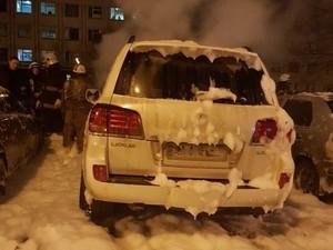 В Харькове пострадал автомобиль родственников судьи по делу ДТП на Сумской