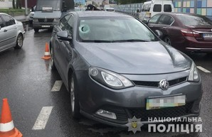 В Харькове иномарка сбила молодого человека на пешеходном переходе (ФОТО)