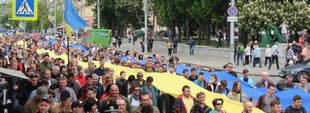 Харьковчане вышли на акцию против сноса палатки «Все для победы» (ФОТО)