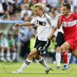 Евро-2008: Швайнштайгер сравнял счет в матче с Турцией (видео гола)