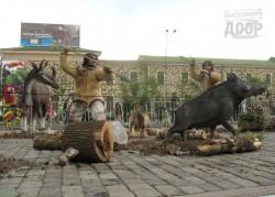 Юрский период на центральной площади Харькова: женщины и динозавры