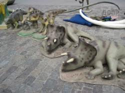 На площади Свободы поселились динозавры, мамонты и саблезубые тигры