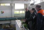 Рабочее совещание на насосной станции, которая дает воду Алексеевке