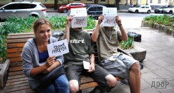 Второй StreetArtFest в Харькове стартовал с трафарет-акции