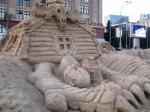 скульптура,песок,клей,баба яга