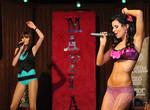 розовый микрофон,девушка,караоке