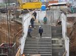 Строительство станции метро Победа. Декабрь 2011 года