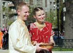 Кришнаистская свадьба в центре Харькова