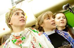 На Рождество по Харькову курсировал «Арт-трамвай»