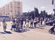 Активисты заблокировали движение на проспекте Ленина (Дополнено, ФОТО)