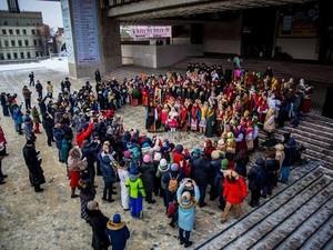 В Харькове, Львове и Краматорске одновременно спели колядку «Нова радість стала» (ФОТО)