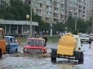 Жизнь Харькова — ливень 1995 года, авария на Диканевке