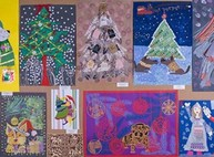 В школе имени Репина проходит новогодняя выставка