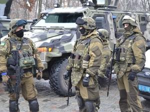 В Харькове силовики расстреляли сумку с тряпьем