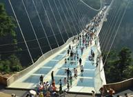 Самый длинный подвесной стеклянный мост (ФОТО, ВИДЕО)