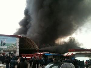 Пожар потушили, видео пожара