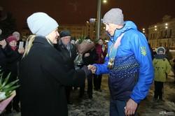 Как Светличная встретила харьковских паралимпийцев: фоторепортаж