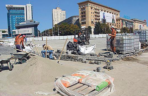 Ко Дню города в Харькове откроют часть обновленного сквера на площади Свободы
