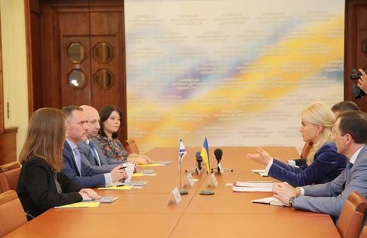 Светличная обсудила с представителем посольства сотрудничество между Харьковской областью и Израилем