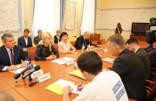 Светличная встретилась с первым заместителем главы миссии ОБСЕ в Украине