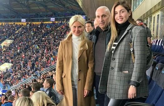Светличная и Ярославский сходили на футбол