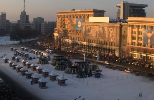 До конца января на главной площади Харькова ограничивают движение
