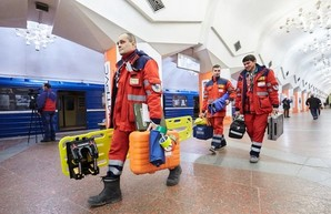 В Харькове на станции метро «Исторический музей» прошли учения (ФОТО)