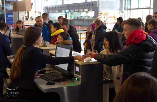 Харьковский аэропорт Ярославского в январе обслужил почти 72 тысячи путешественников