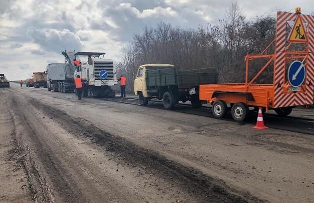 Как ремонтируют на Харьковщине дороги государственного значения