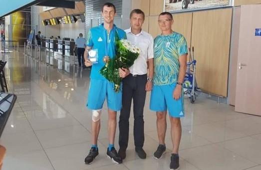 В Харькове встретили бронзового призера Европейских игр в легкой атлетике