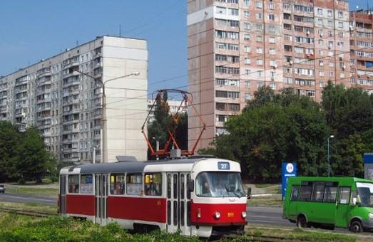 На Салтовке по выходным четыре трамвая будут курсировать по измененному маршруту