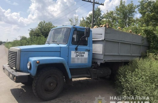 Под Харьковом задержали очередной грузовик с древесиной (ФОТО)