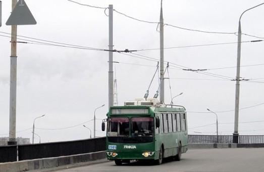 Несколько харьковских троллейбусов временно сменят маршруты