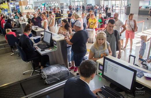 Харьковский аэропорт Ярославского на четверть увеличил пассажиропоток и установил новый исторический рекорд