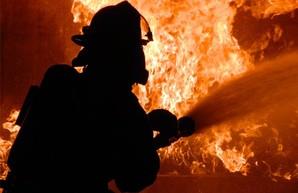 В Харькове горел пивзавод (ВИДЕО)