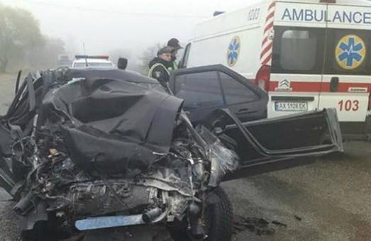 Под Харьковом водителя вырезали из разкуроченного авто (ФОТО, ВИДЕО)