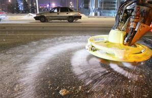 Харьковские дорожники запаслись солью и обратились к водителям