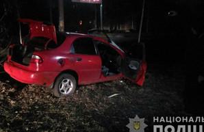 В Харькове легковушка влетела в бордюр и дерево: есть пострадавшие (ФОТО)