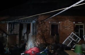 Под Харьковом во время пожара пострадал мужчина