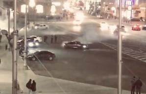 Дрифт в центре Харькова: установлен владелец иномарки