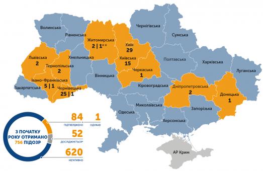 Коронавирус в Украине: подтверждено 84 случая COVID-19