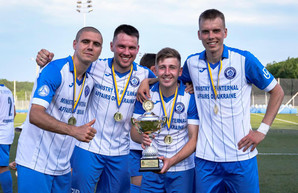 Футболисты команды «Универ-Динамо» – победители областного чемпионата