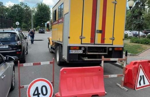 В центре Харькова – авария на водопроводе