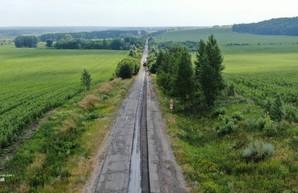 Начат текущий ремонт на автомобильной дороге Мерефа-Змиев (ФОТО)