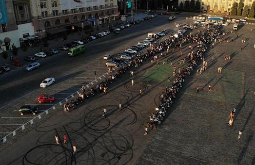 В центре Харькова собрались байкеры (ФОТО, ВИДЕО)
